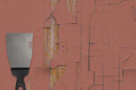 старая краска на деревянной поверхности